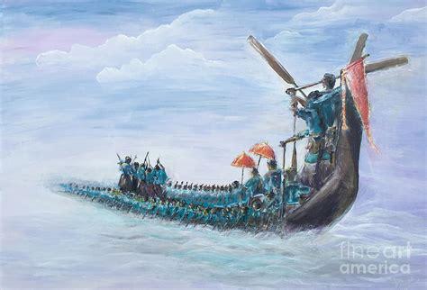 drawing of boat race in kerala kerala boat race painting by anjana babu thulasi bai