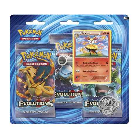 Tcg Opus Iii Booster Pack evolutions boosters braixen 3 booster pack blister pok 233 mon tcg trading card