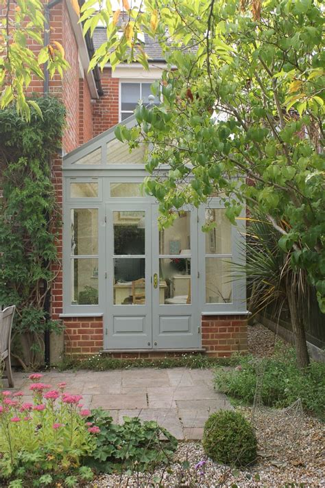 conservatory painted  farrow  ball pigeon house