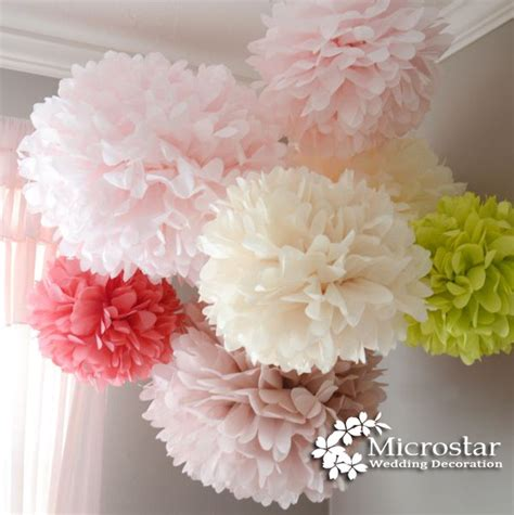 How To Make Tissue Paper Balls For Wedding - aliexpress buy pom poms 1pcs 14inch 35cm tissue