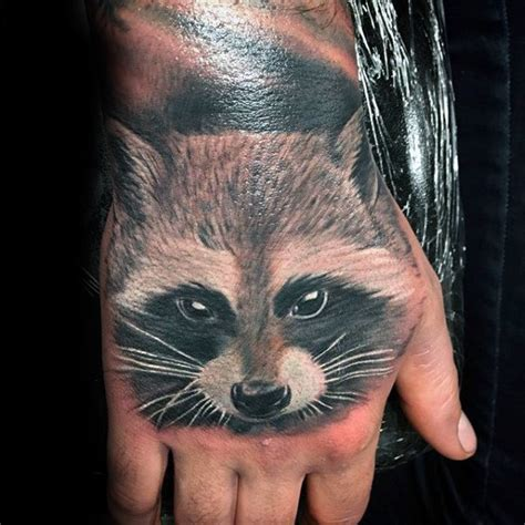racoon tattoo 80 raccoon designs for critter ink ideas