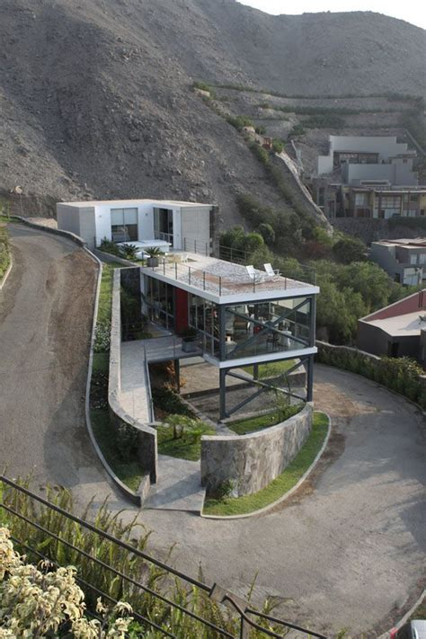 house in side of hill a house built on the side of a steep hill architecture pinterest the natural on