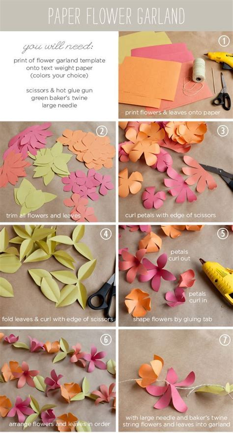 Make Paper Flower Garland - diy paper flower garland weddings