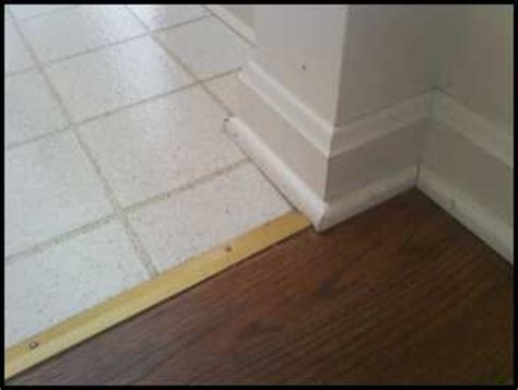 Baseboard Different Floor Heights by Baseboard Transitions Ceramic Tile Advice Forums