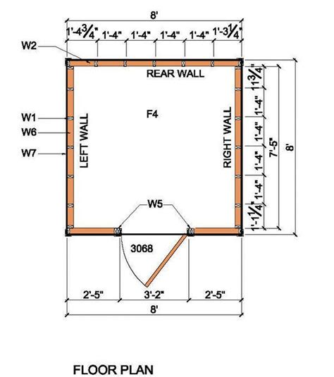 shed floor plan 8 215 8 lean to shed plans blueprints for garden shed