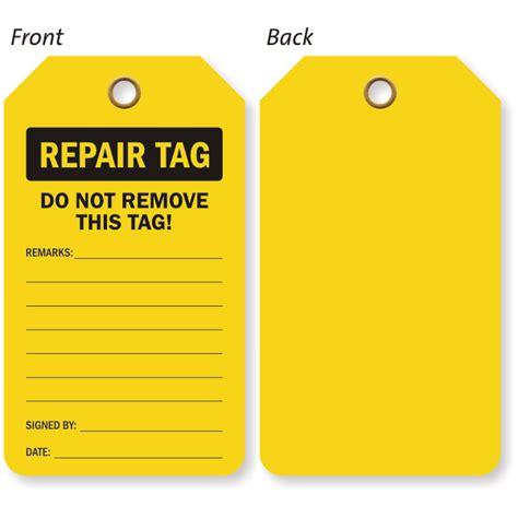 printable equipment tags industrial repair tags equipment repair tags