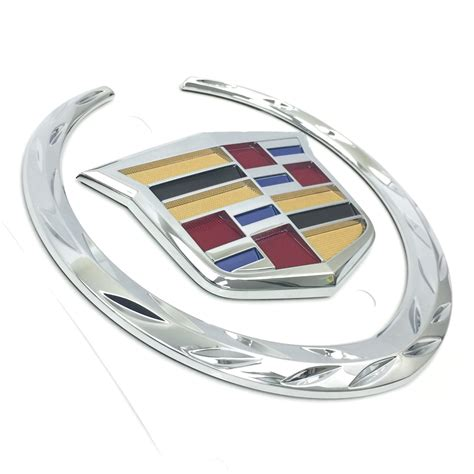 Cadillac Crest by Cadillac Wreath Crest Emblem Flat Surface For Trunk