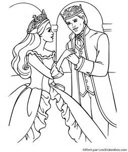 coloriages barbie coeur princesse az coloriage