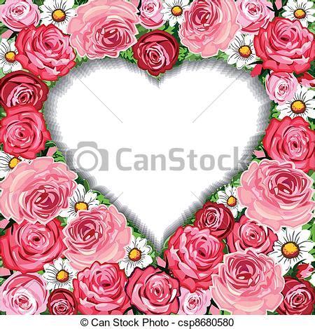 cornici cuore clipart vettoriali di cornice fondo cuore