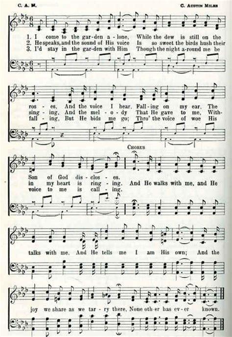Lyrics In The Garden by Christian Hymns Lyrics Classic Christian Hymns Quot In The Garden Quot The Prayer Foundation