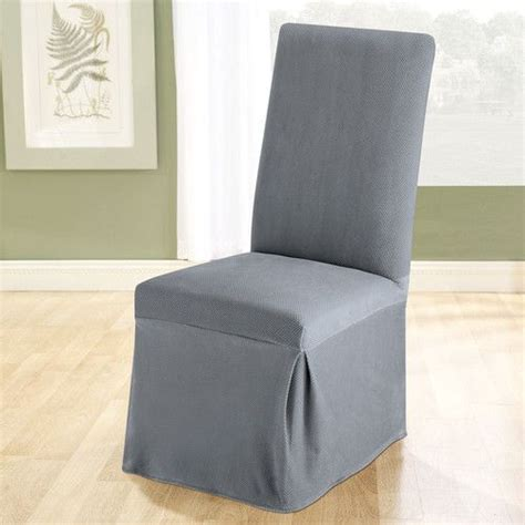 Grey Dining Room Chair Slipcovers Stretch Pique Dining Chair Slipcover Living Dining Room