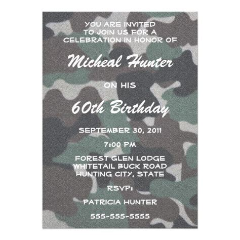 camouflage invitation template free camouflage invitation templates