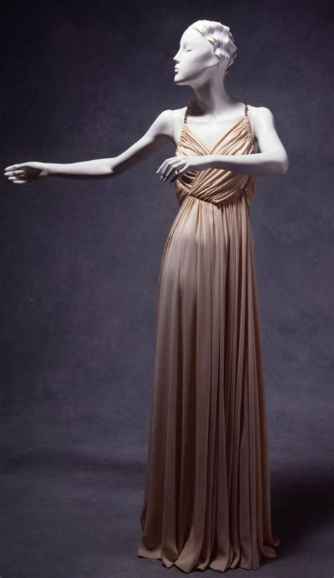 evening dress madeleine vionnet paris france ca