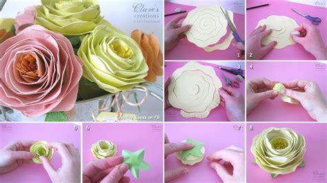 Paper Roses Easy - diy easy beautiful paper fabdiy