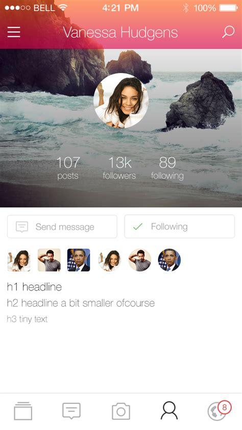 app design kickstarter social app mobile ui kickstarter kit psd download
