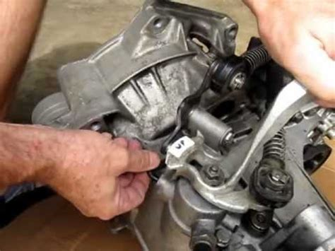 motor repair manual 1999 volkswagen jetta transmission control vw mk4 mk5 and mk6 5 speed shifter adjustment for 02j and mq250 transmissions youtube