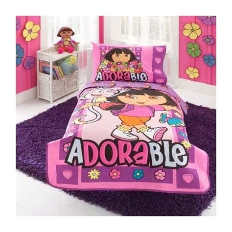 dora comforter set dora the explorer 10 pc dora the explorer 10 pc toddler