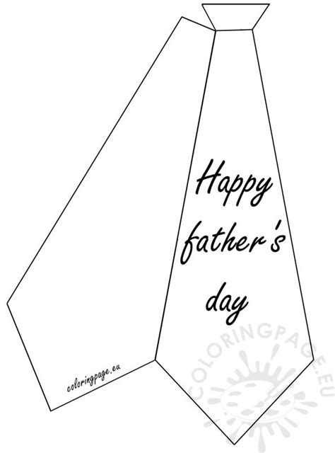 tie template for card greeting card happy s day coloring page