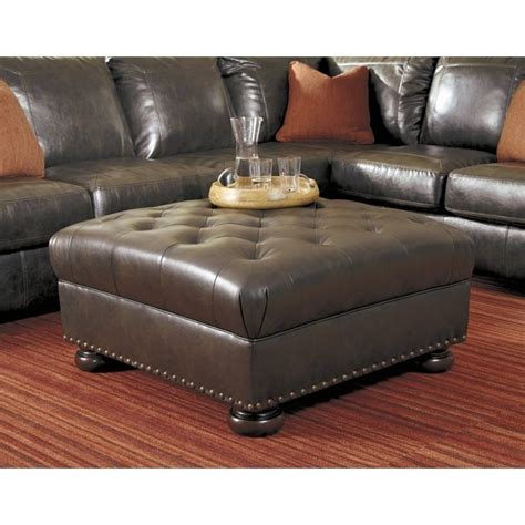 oversized leather ottoman ashley nesbit leather oversized accent ottoman in antique