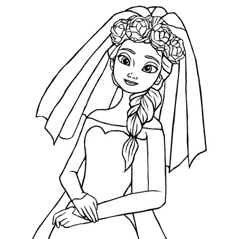 frozen wedding coloring pages wedding elsa lines by simmeh on deviantart