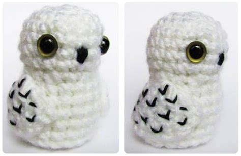 A Snowy Owl Papercraft Resting On My Laptop By - amigurumi snow owl crochet
