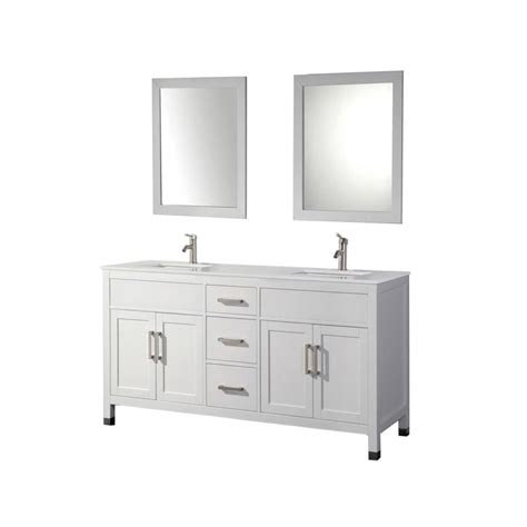 84 Sink Bathroom Vanity by Shop Mtd Vanities White Undermount Sink Bathroom