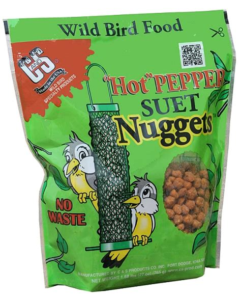 c s hot pepper suet nuggets 27 oz 3 pack