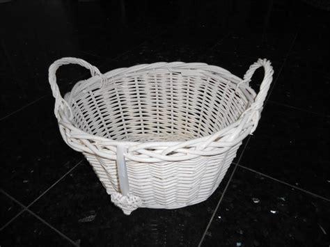 shabby chic storage baskets white shabby chic wicker easter egg hunt kitchen