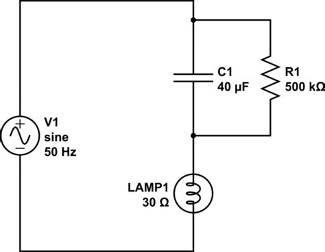 bleeder resistor light bulb voltage problem with resistance electric circuit etc etc electrical engineering stack exchange