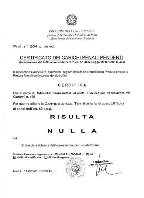 ufficio carichi pendenti certificati controlli analisi cercounbimbo
