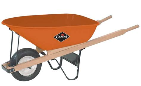 garant 6 cubic ft steel tray industrial wheelbarrow the