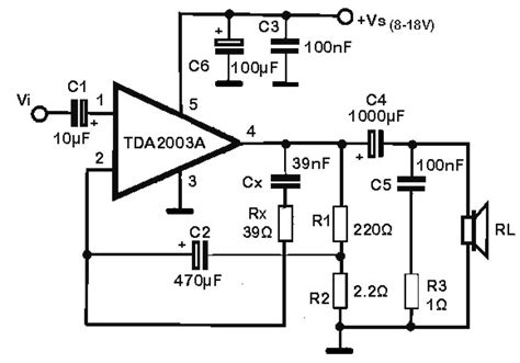 Ic Tda 2003 Ic St Audio Lifier home audio schematics home audio map elsavadorla
