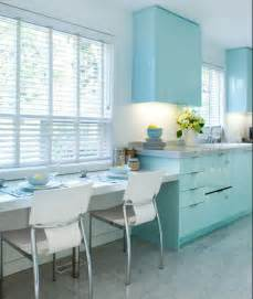 brandon barre blue kitchen breakfast bar light blue high gloss cabinets cabinetry color ideas