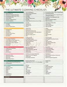 Apartment Cleaning Checklist Form The Ultimate House Cleaning Checklist Printable Pdf