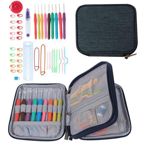 fabric mart fabricistas diy tutorial crochet hook case 45 pcs set crochet hooks stitches knitting needle kit