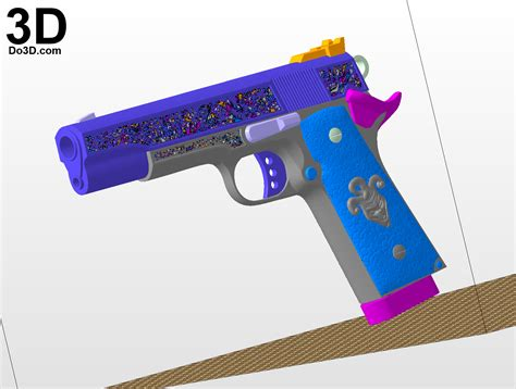 3d gun image 3d home architect 3d printable model suicide squad joker colt pistol gun