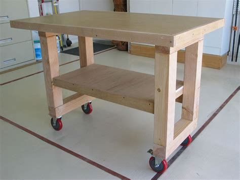 bench wheels wooden wooden work bench on wheels pdf plans