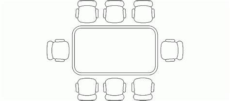 bloques autocad gratis de mesa rectangular de  sillas
