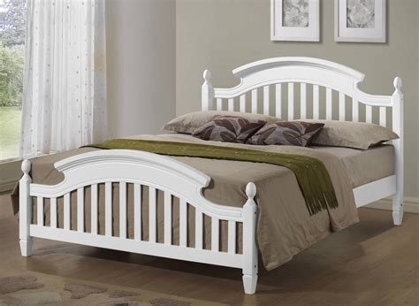 wooden headboards double zara white wooden arched headboard bed frame in 3ft single