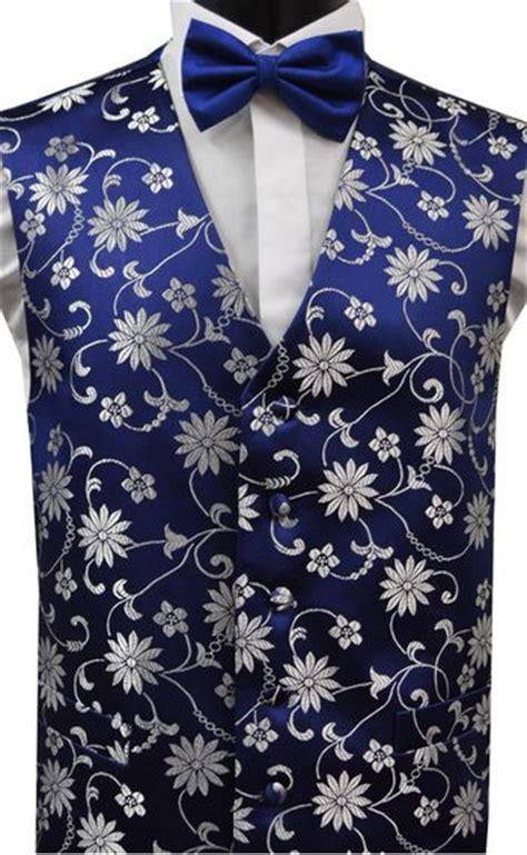 blue pattern waistcoat blue navy silver grey floral pattern dress waistcoat