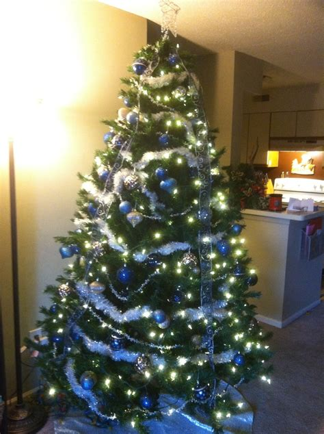 blue and silver christmas tree furniture ideas