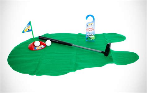 bathroom putting green potty putter toilet time golf game unique gifts ideas