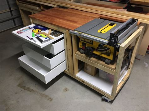 site saw bench woodworking dewalt table saw stand dave bywaters