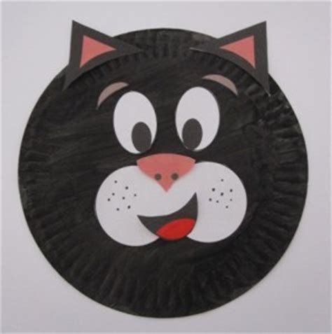Paper Plate Cat Craft - cat craft idea for crafts and worksheets for