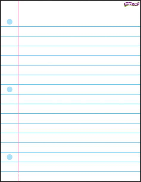 printable lined notepad paper 6 best images of printable lined paper college ruled