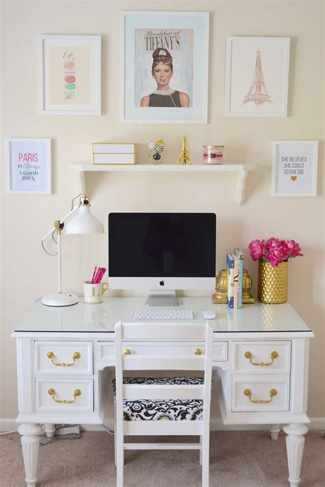New Office Reveal Minted Giveaway White Desks Chalk White Painted Desk
