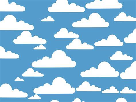 free cloud pattern background clipart simple clouds