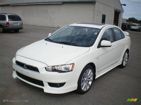 lancer mitsubishi white 2010 wicked white metallic mitsubishi lancer gts 17828766