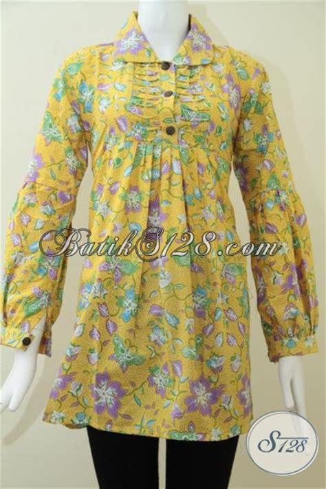 Blus Rok Batik Warna Kode Ba5281 blus lengan panjang batik wanita elegan busana batik warna