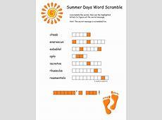 Summer Word Scramble Free Clipart For Teachers Pay Teachers